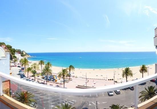 Blick vom Balkon Hotel Athene, Lloret de Mar