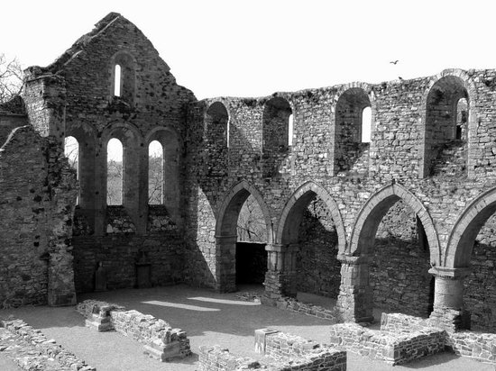 Jerpoint Abbey: View from on top looking down