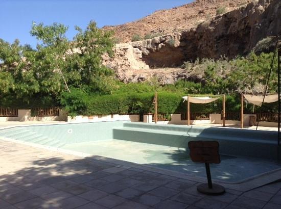 Ma'In Hot Springs: piscine vide
