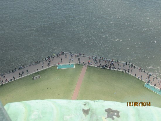 Statue Cruises: Looking down from our Crown view