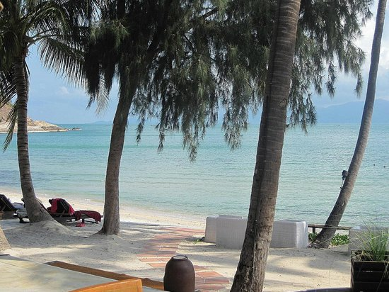 Melati Beach Resort & Spa : view from breakfast