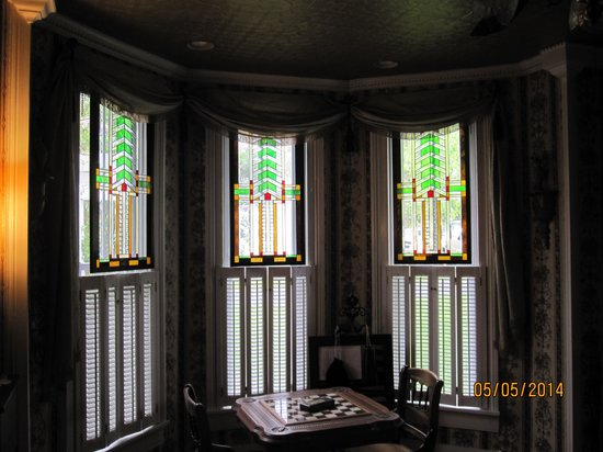 A. C. Stickley Bed and Breakfast: Stained glass