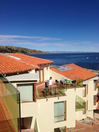 Hotel Rosario Lago Titicaca : Вид с балкона