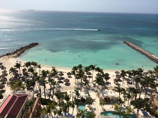 Divi Aruba Phoenix Beach Resort: View from room 1406 penthouse suite