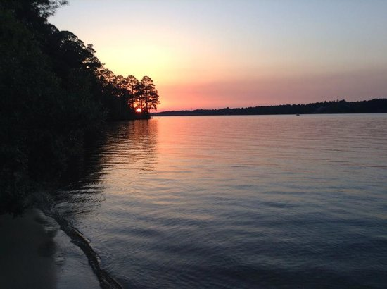 Niceville, Floryda: Sunset across from Campground