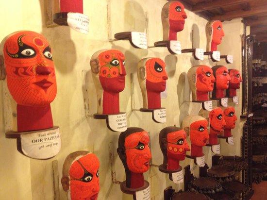 Kerala Folklore Theatre & Museum : face masks