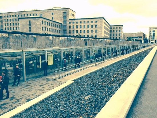 Topography of Terror: Outdoor exhibits and section of Berlin Wall