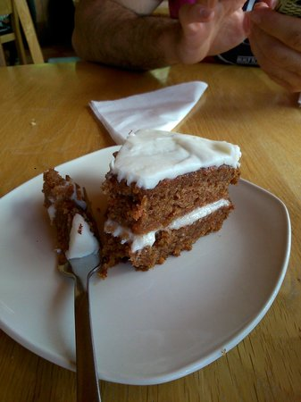 Castle Stalker View Cafe: Carrot cake, con pasas!!