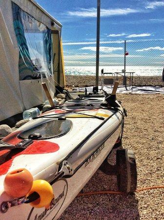 Camping Playa Paraiso: Parcela junto a la playa