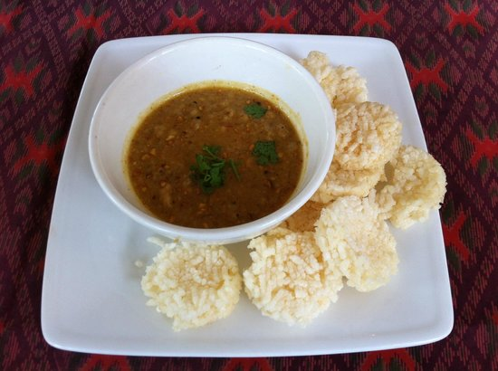 Banyan Thai Cuisine: Mince Pork & Prahok with Rice crispy