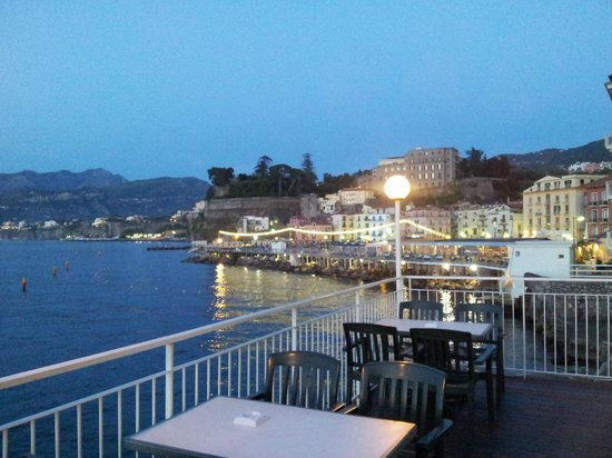 Hotel Admiral Sorrento : View from decking towards Marina Grande
