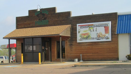Big Springs, NE: Sam Bass Saloon & Steakhouse on south side of truck stop