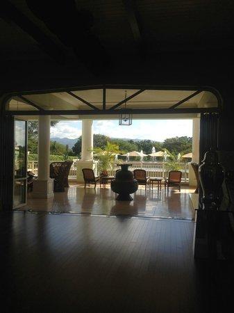 Hemingways Nairobi: view from reception area