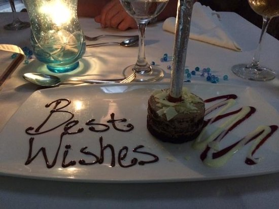 The Tides: Birthday cake and sparkler!