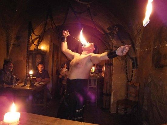 Tavern U Krale Brabantskeho: Fire eating..!