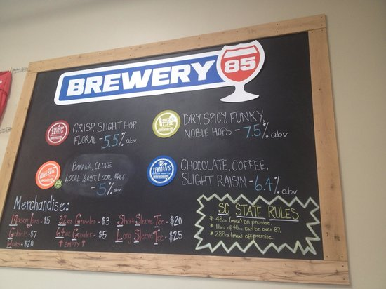 Greenville Brew Tours: On tap #brewery85