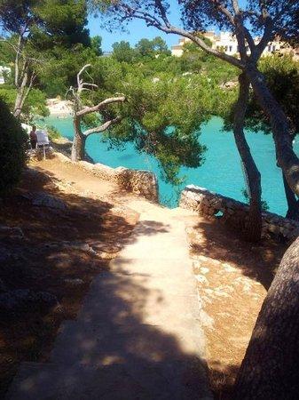 Hotel Cala Ferrera: path down to the beach from hotel