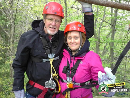 Long Point Eco-Adventures: All ready for zip-lining