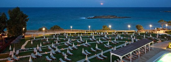 Night Panoramic Photo of Fig Tree Bay from Capo Bay Hotel