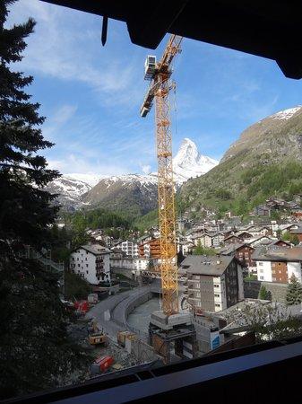 Hotel Welschen : Vue depuis le balcon avec la Grue (il y a des travaux en ce moment)