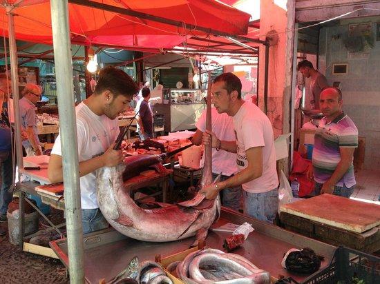 La Vucciria: Fishmongers