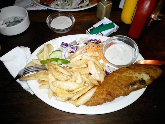 Two Cherries Pub: Breaded Plaice With Chips
