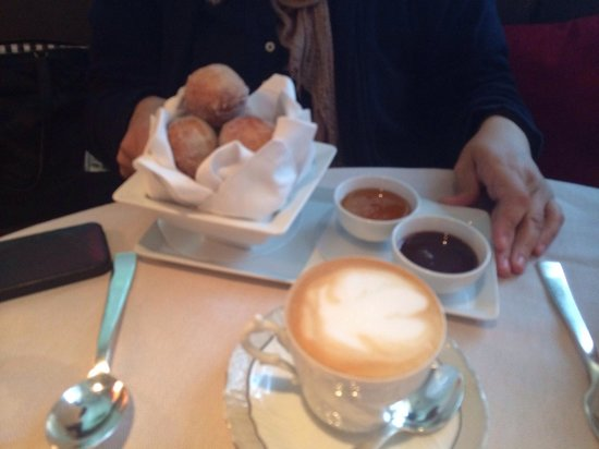 Marea : Doughnuts.. One order is more than enough for two people. We weren't told this by the hostess &