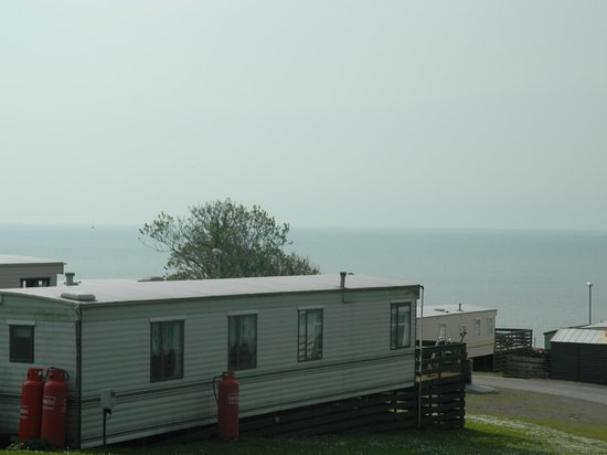 Auchenlarie Holiday Park: view from caravan