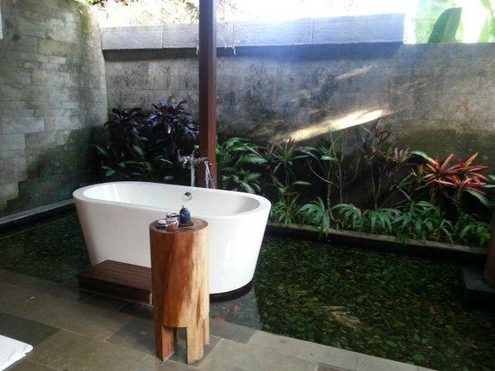Luwak Ubud Villas: Open bathroom