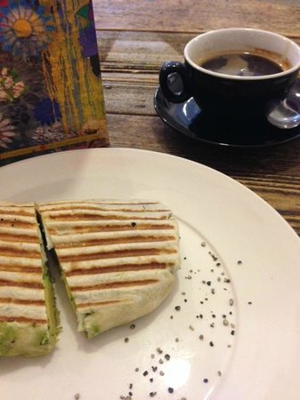 Daisy Green of Portman Village : My awesome veggie breakfast wrap!