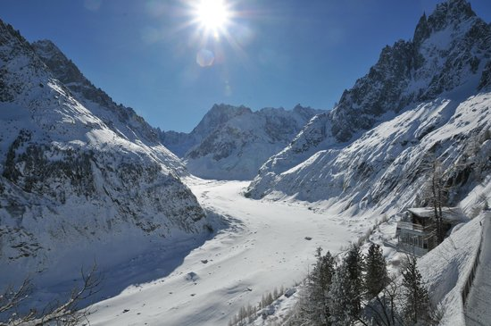 Montenvers Train - La Mer de Glace: Ледник Мер-де-Глас