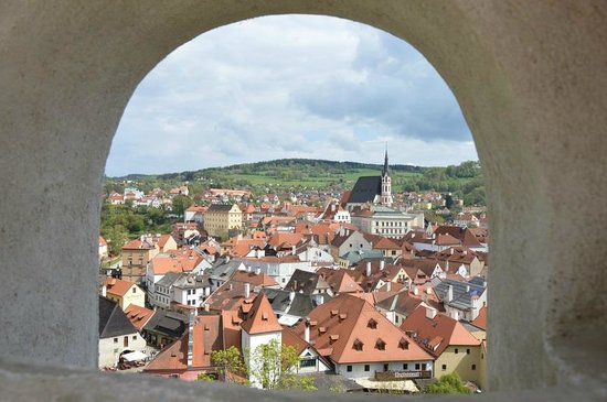 Historic Center of Cesky Krumlov: Вид на город из замка