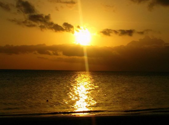Combate Beach Resort: Sunset at Combate Beach, Cabo Rojo