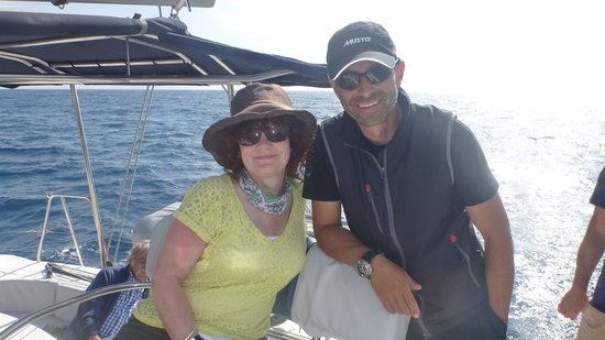 Anchors Away Yachting: My wife and Captain 'Tasty'