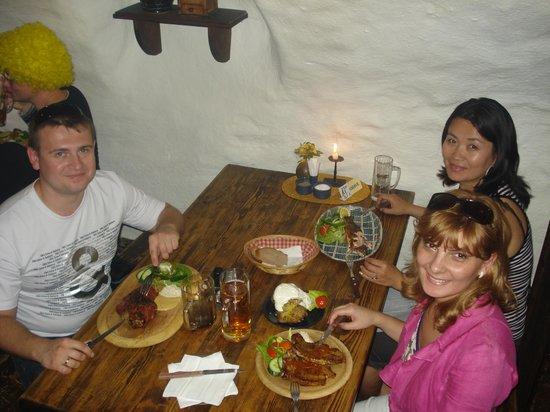 Historic Center of Cesky Krumlov: Ресторан в городе Чески Крумлов