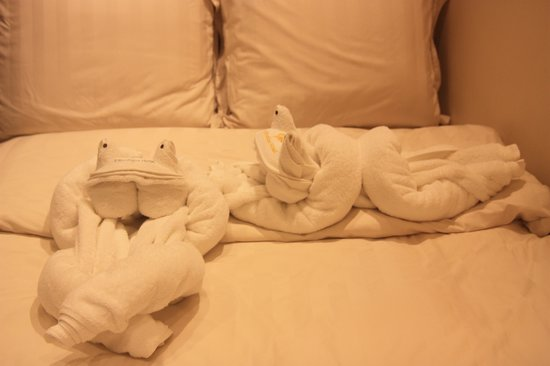 9 Boutique Hotel: See what Dorothy did with the towels!