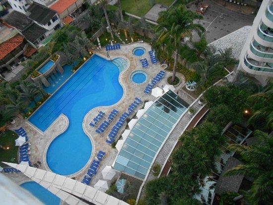 Sheraton Barra Rio de Janeiro Hotel: Pool view from room 1023