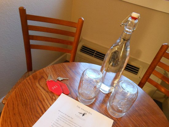 The Angler Inn : Had water waiting in our room...Loved this!!