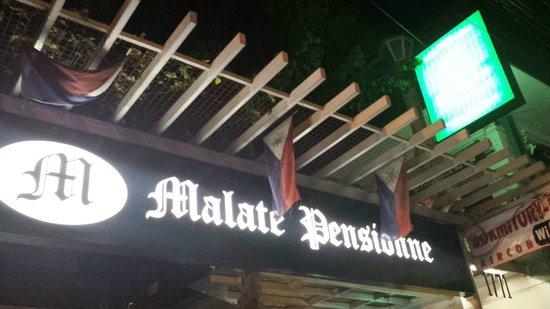Malate Pensionne : Signboard