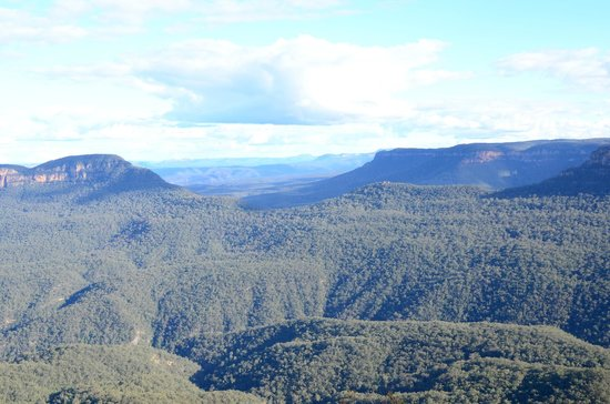 Echo Point Lookout: Blue mountain