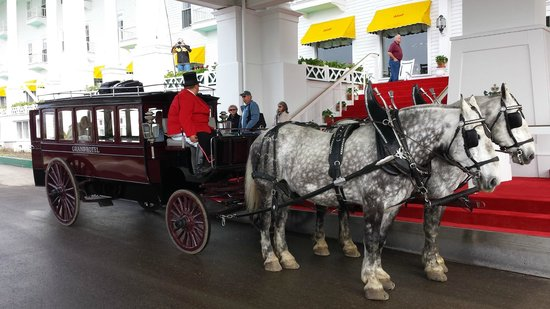 Grand Hotel: Travel to and from the hotel by carriage is an experience.