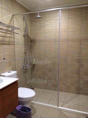 Flower Inn Taipei: clean washroom with toiletries