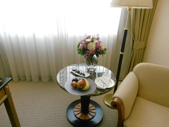 "Kempinski Hotel Corvinus Budapest: Flowers, chocolate & fruit as a part of ""Romantic Getaway to Budapest"" rate"