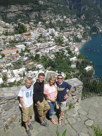 Lucia Pompeii Guide Tours: On Amalfi coast overlooking Positano