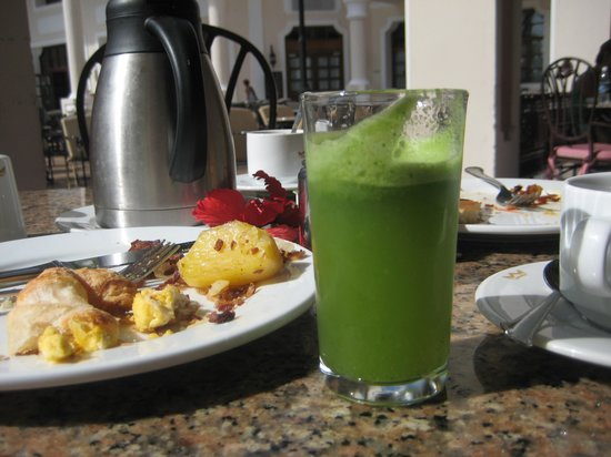 Hotel Riu Palace Punta Cana: They made spinach/cucumber/pineapple smoothies!