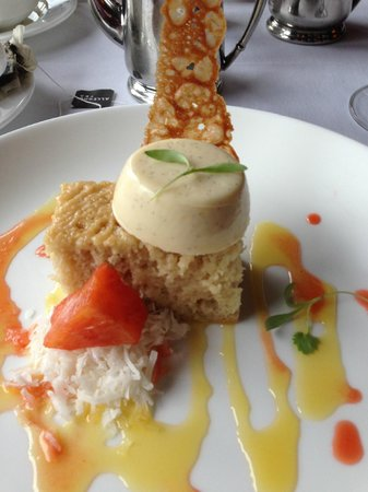 Grouse Mountain Grill: Husband's dessert - unusual, but delicious! (Can't remember name)