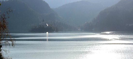 Park Hotel Bled: view of Lake Bled from our room