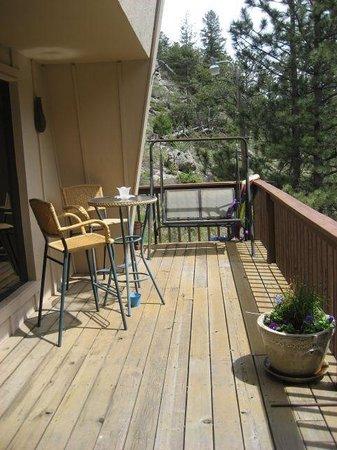Kokopelli Inn: Our private balcony