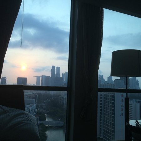 Grand Copthorne Waterfront Hotel: Sunrise from the bedroom