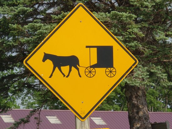 Amish People: Amish road sign